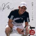 【直筆サイン入り写真】 錦織 圭 /テニス 選手 グッズ ラケットを持った写真 /ブロマイド 約20×25cm オートグラフ /Ace AUTHENTIC 証明付き