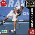 【直筆サイン入り写真】 錦織圭 グッズ /テニス 選手 ラケットを持った写真 オートグラフ /Ace AUTHENTIC 証明付き