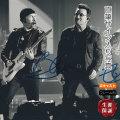 【2メンバー直筆サイン入り写真】 U2 グッズ ボノ BONO ジ・エッジ The Edge /ブロマイド オートグラフ 約20×25cm /フレーム別