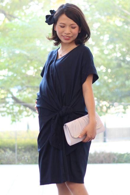 レンタルドレス マタニティ Diane-Navy