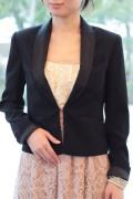 レンタルドレス オプション タキシード風ショート黒ジャケット