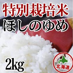 【北海道産】減農薬栽培 ほしのゆめ2kg 令和2年産米