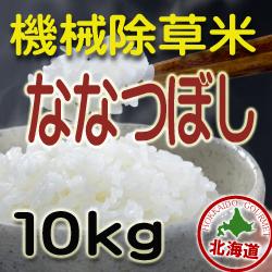 無農薬栽培 機械除草 ななつぼし10kg 令和元年産米