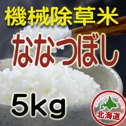 無農薬栽培 機械除草 ななつぼし5kg 令和2年産米