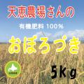 天恵農場さんの有機100%おぼろづき5kg