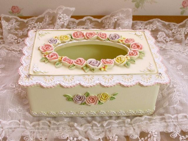 ローズブーケ ミニティッシュボックス
