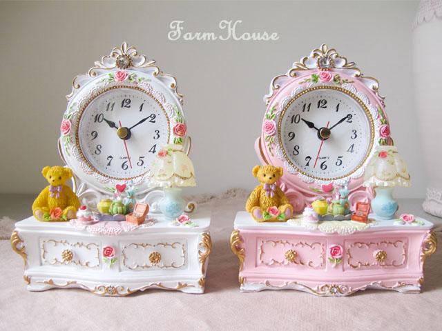 ベア ドレッサー型置時計