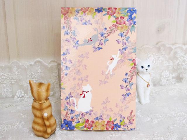 一筆箋 猫&お花