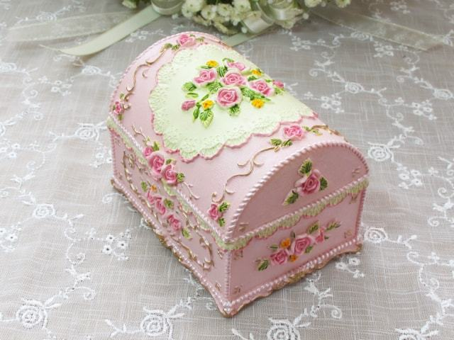 プリンセス アンティークボックス ピンク