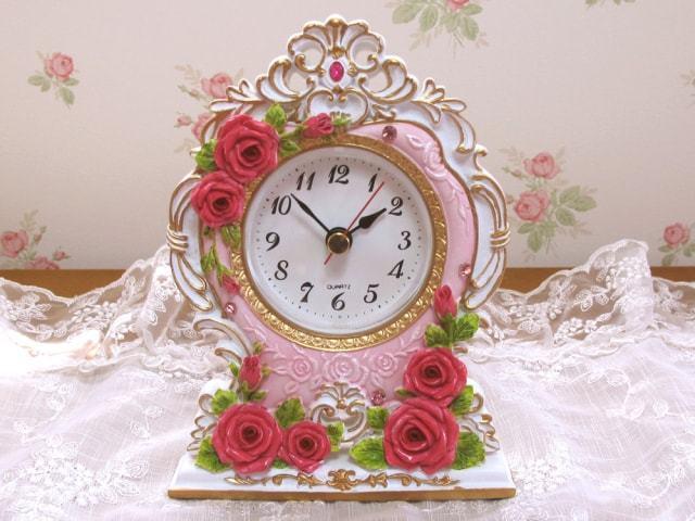 ロココローズ 置時計