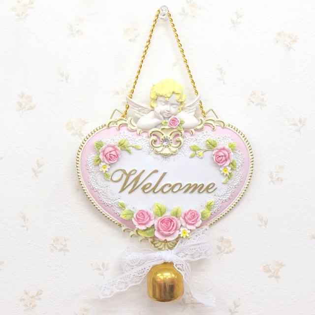 天使ドアプレート Welcome