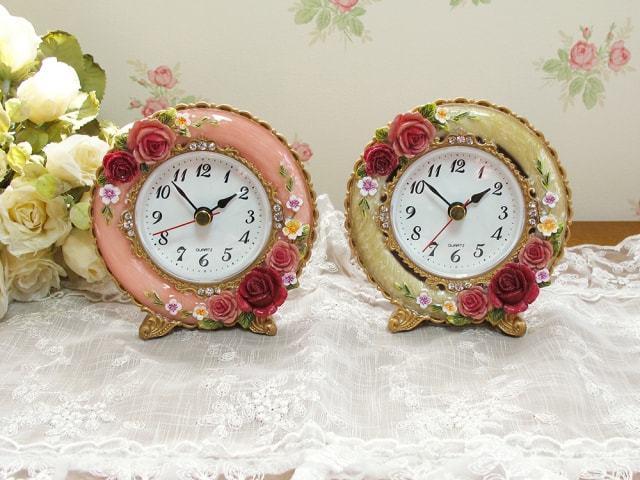 ロイヤルローズ 丸型置時計