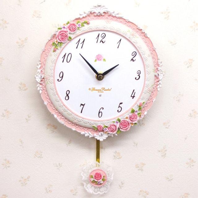 パウダーローズ 振子時計
