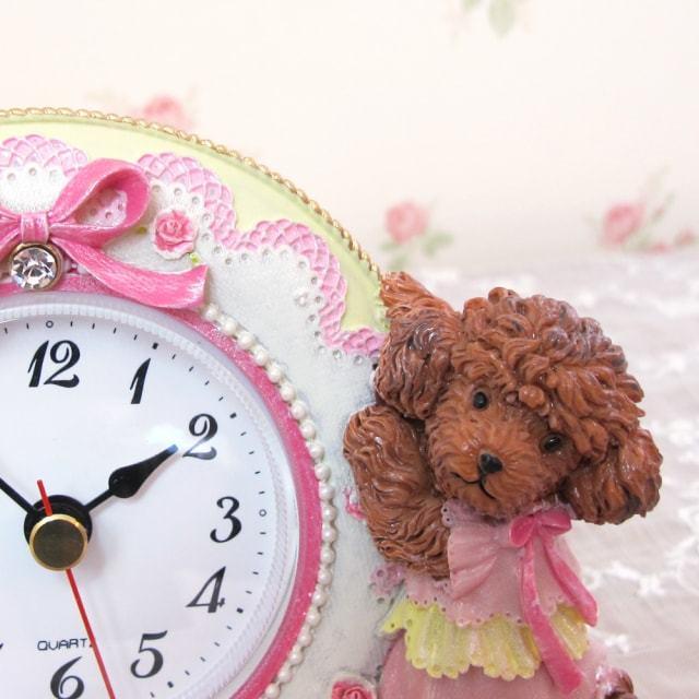 トイプードル置時計