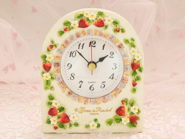 ストロベリー置時計