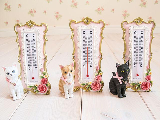リボン猫 温度計