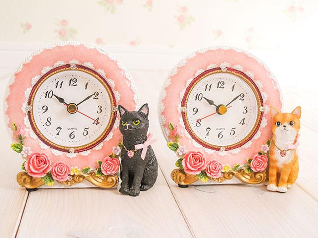 リボン猫 置時計