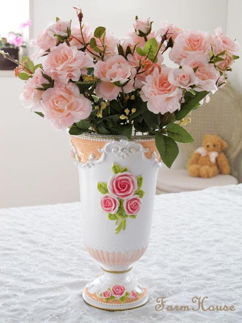 パウダーローズ 花瓶(造花用)