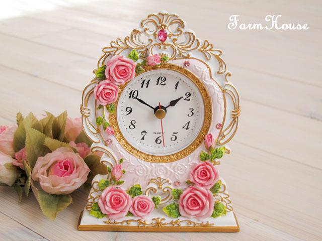 プリンセスローズ 置時計