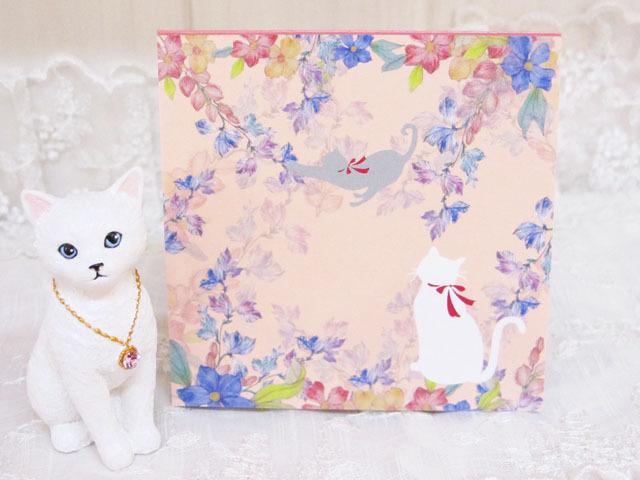 メモ帳 猫&お花