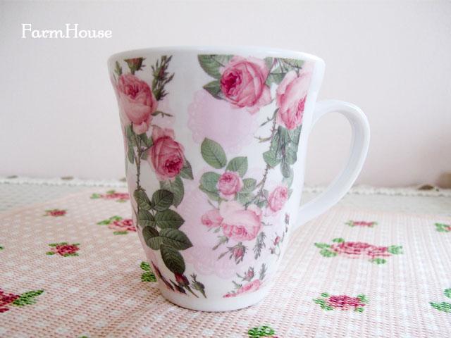 ピンクローズ メラミンマグカップ