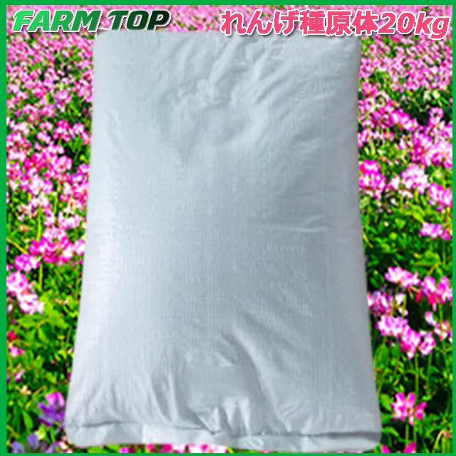 【1kg/950円】景観用緑肥 れんげ 種 20kg 原体【景観用緑肥】