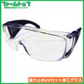 【切粉・粉塵などから目を保護します】SUN UP 安全メガネ FM-02UB 23580【くもり止め・UVカット加工グラス】