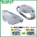 トーヨー 防じんメガネ No1292 日本製 くもり止め加工レンズ 開閉ベンチレーション付き