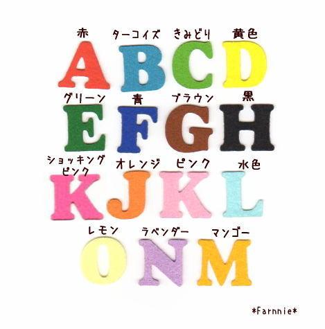 アルファベットのフェルトアイロンワッペン*数字