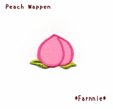 桃のワッペン