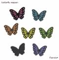 黒蝶の刺繍アイロンワッペン【ミニ/レギュラー】