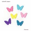 蝶の刺繍アイロンワッペン【ミニ/レギュラー】