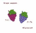 葡萄ワッペン