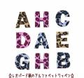 【カット】【縦3cm】【小】レオパード豹柄のアルファベット数字のワッペン