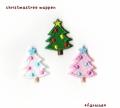 クリスマスツリーのアイロン刺繍ワッペン【S/M/L】