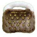 ペットとオーナーのハートわしづかみ 幸せオーラ満載!アメリカで大人気犬用おもちゃ Chewy Vuiton Purse Brown S