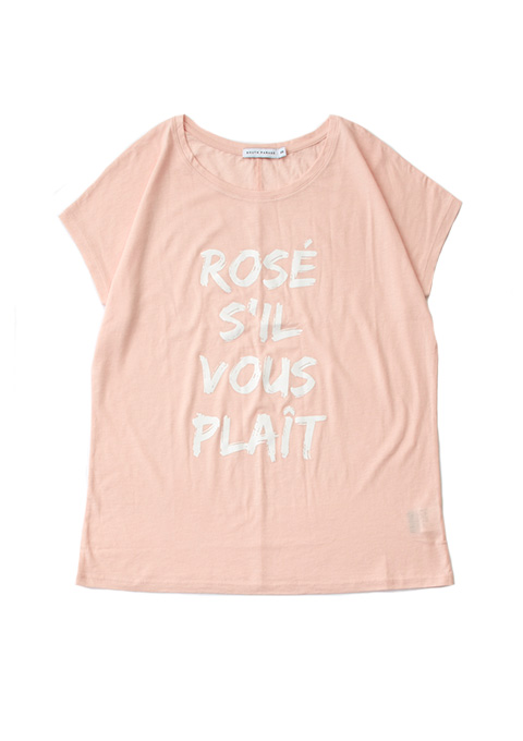 SOUTH PARADE(サウスパレード) ROSE SIL VOUS PLAIT TAYLOR Tシャツ(PINK)