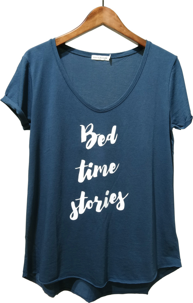 SOUTH PARADE(サウスパレード)VALERIE Bed time stories Tシャツ(NVBL)