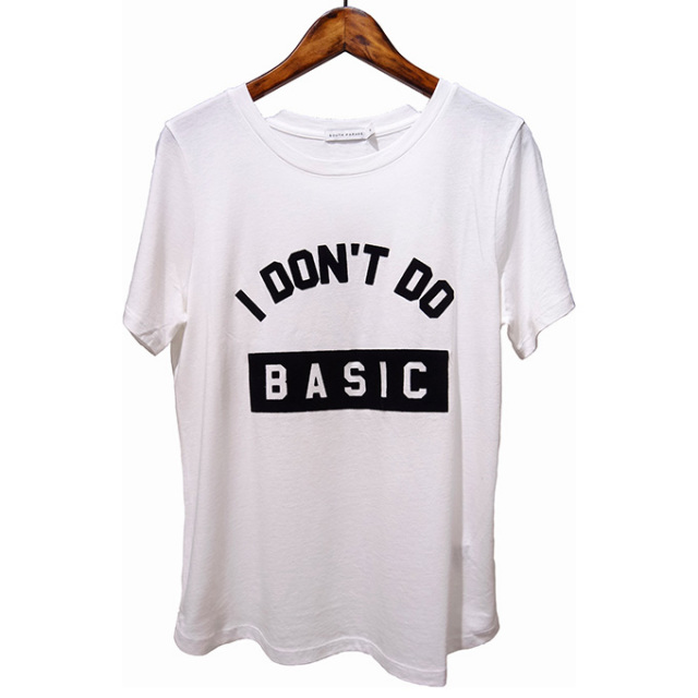 SOUTH PARADE(サウスパレード) S/S TEE I Dont Do Basic  (WHITE)