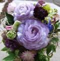おまかせブーケブルー紫