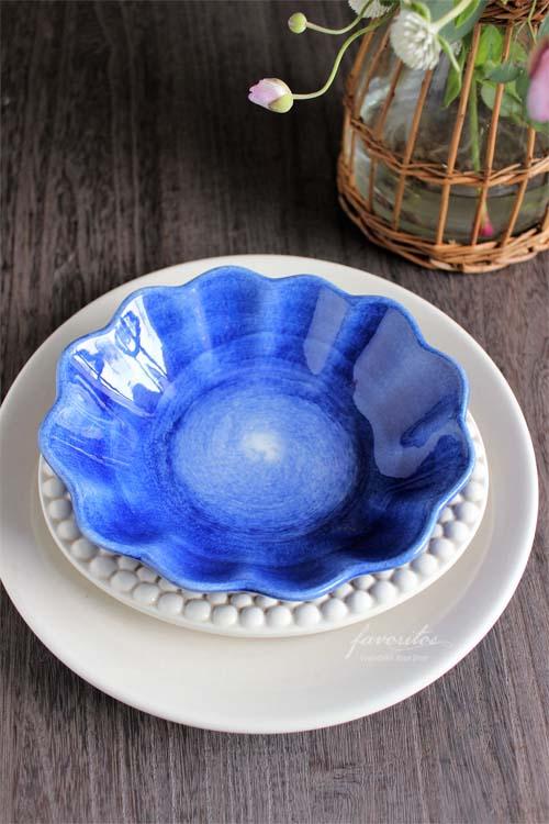 MATEUS(マテュース) |オイスターボウル(楕円深皿)  (ライトブルー)