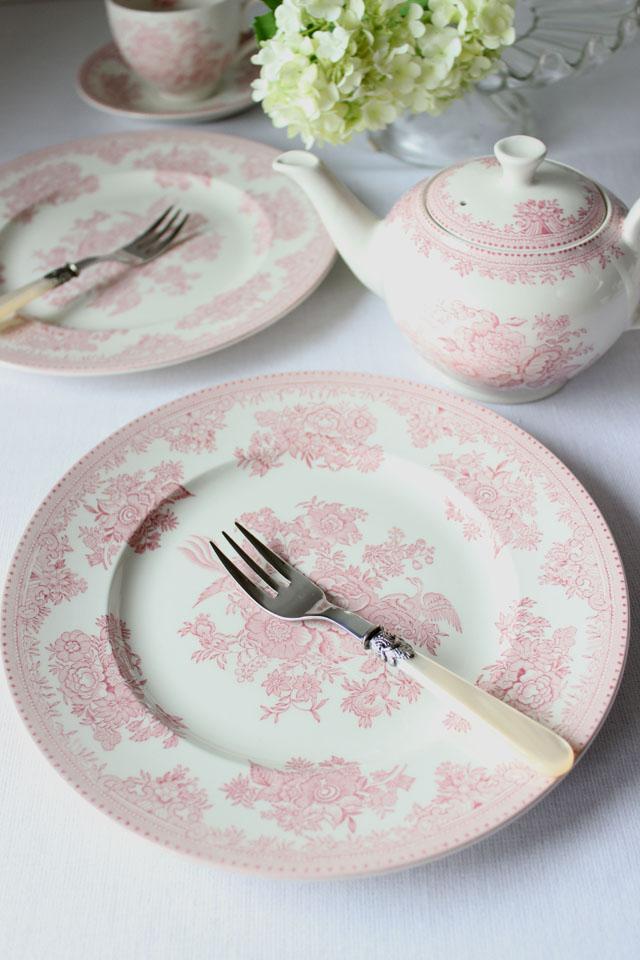 burleigh(バーレイ)   ピンク アジアティック フェザンツ プレート Sサイズ