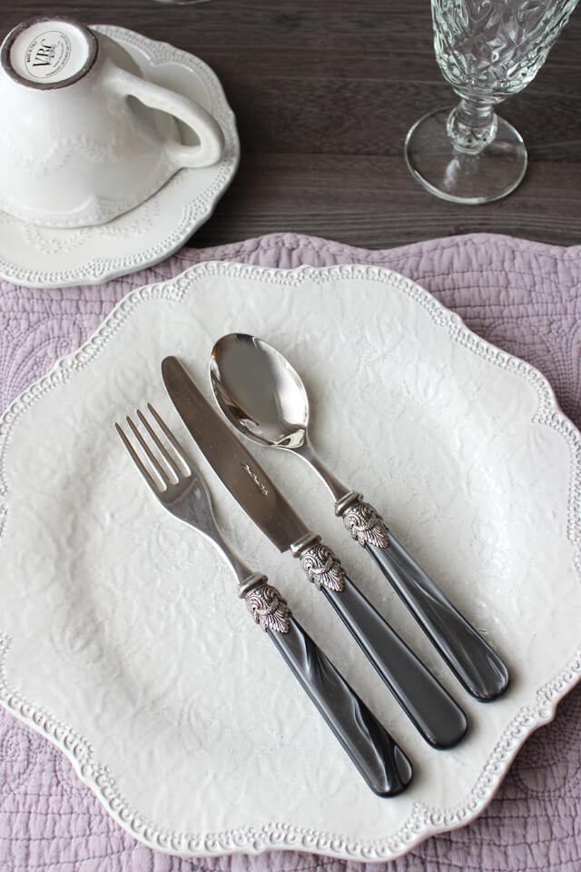 EME (エメ )  Napoleon カトラリー ブラック (テーブルナイフ / フォーク / スプーン)