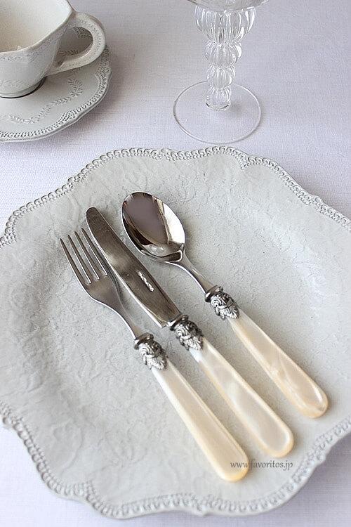 EME (エメ ) |Napoleon カトラリー  パールアイボリ― (テーブルナイフ / フォーク / スプーン)