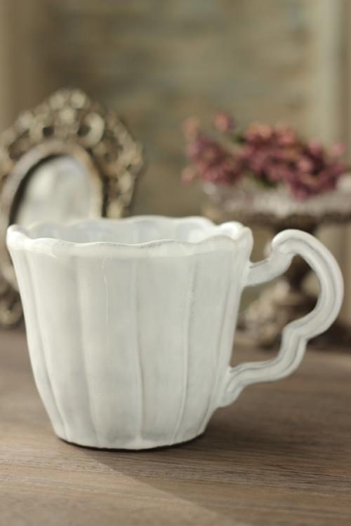 La Ceramica(ラ・セラミカ) ストライプホワイトマグカップ