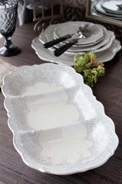 VBC Casa|La Ceramica(ラ・セラミカ) クリーム 3連プレート