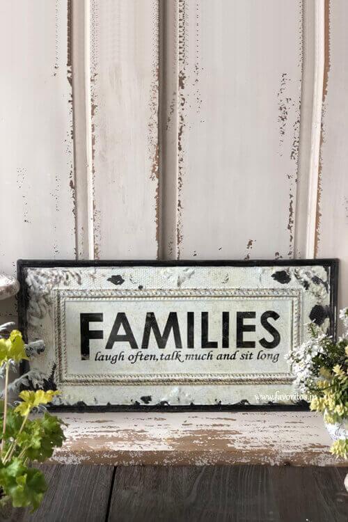 シャビー ティンプレート「FAMILIES」
