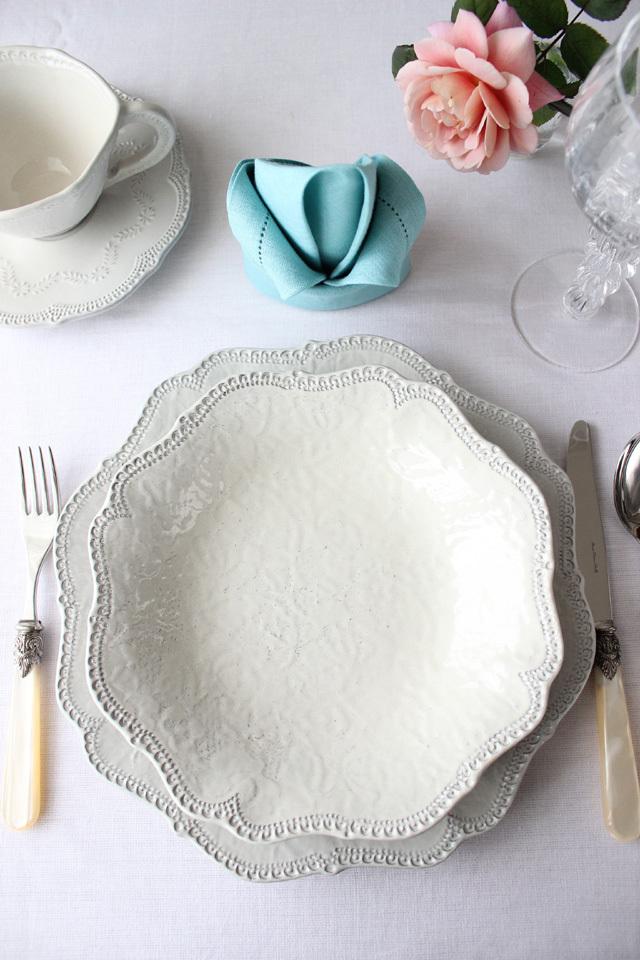 販売終了~VBC Casa|La Ceramica(ラ・セラミカ) クリーム  レース スーププレート