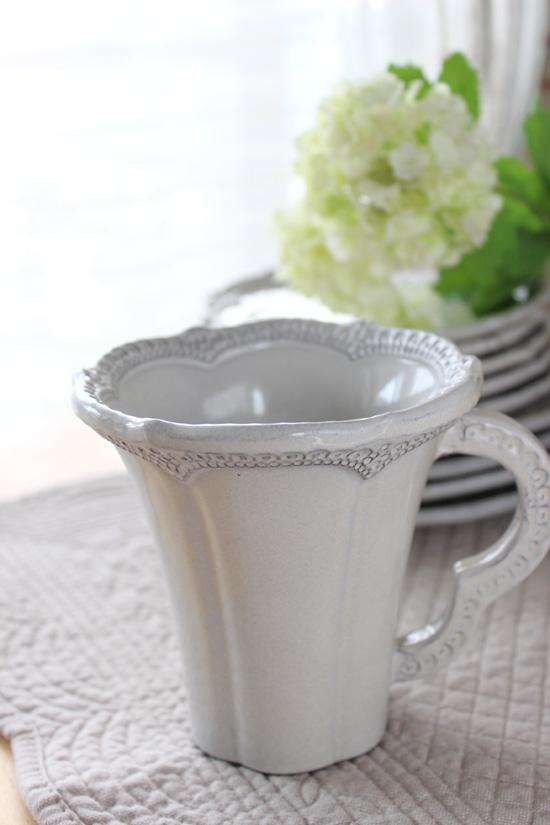 La Ceramica(ラ・セラミカ)|クリームレースマグカップ