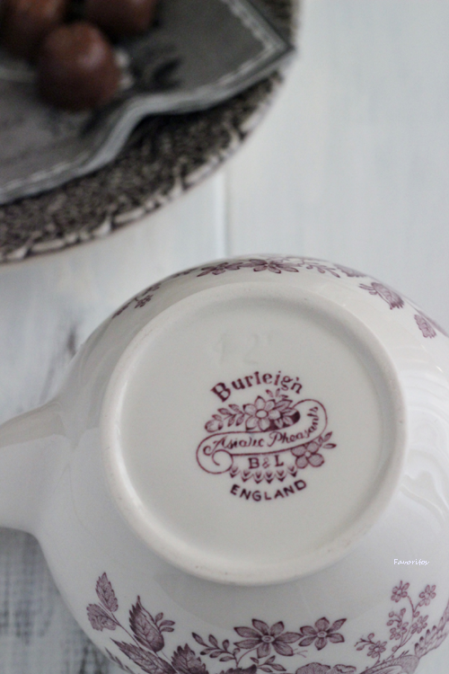 burleigh(バーレイ) | プラム アジアティック フェザンツ ティーポット Sサイズ